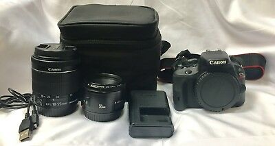 Canon EOS Rebel Sl1 Camera 18MP with Zoom EF-S 18-55mm Lens And EF 50mm Lens