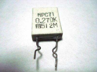 MPC71  0.27 ohmK 5Watt Ceramic collector–emitter Cement  RESISTOR QTY Two