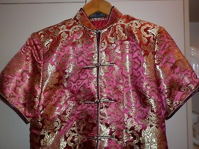 Vintage Chinese  Cheongsam  Top/jacket Size M  Excellent Condition