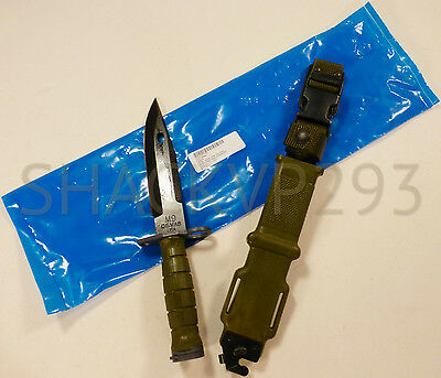 Us M9Bayonet Combat Knife Tri-Technologies W/ Scabbard Usgi New In Package