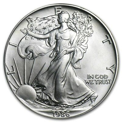 (1) 1986 American Silver Eagle United States Mint Brilliant Uncirculated Coin!