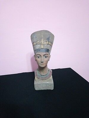 RARE ANTIQUE ANCIENT EGYPTIAN Queen Nefertiti Wearing Crown 1370-1330 Bc