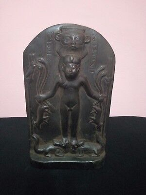 RARE ANTIQUE ANCIENT EGYPTIAN Statue Temple Pharaoh Bes 1500-1000 Bc