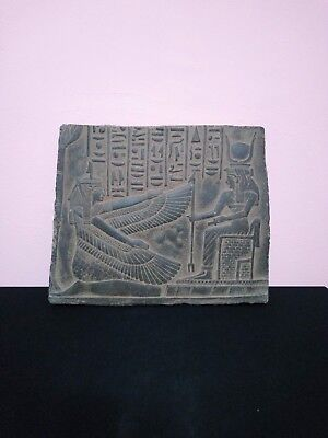 STELA RARE ANTIQUE ANCIENT Egyptian Statue Osiris and Isis 1375 Bc