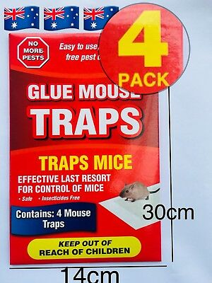 """4 Traps """"1 Pack"""" Mouse mice spider Glue Sticky  Snare Board Insect bugs"""