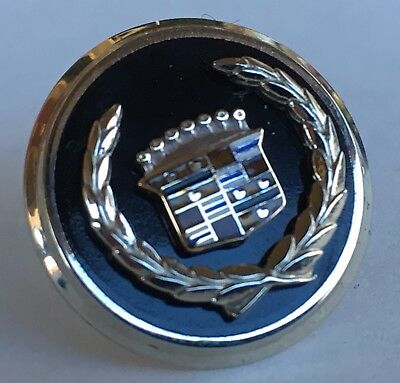 Cadillac Tie Clasp & lapel Pin 10K White Gold