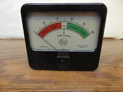 Boes panel meter for model 214 Vacuum Tube Tester
