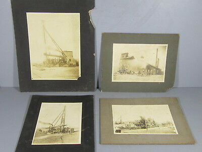4  Mounted Cabinet Photographs of Little Bob Lead Mine in Duenweg Missouri