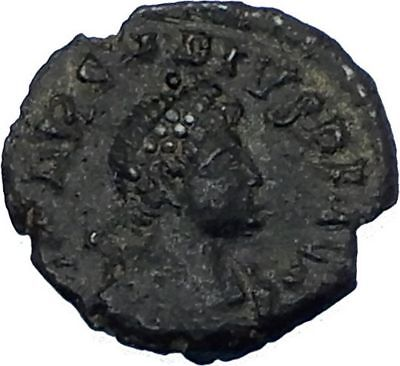 ARCADIUS 383AD Authentic Genuine Ancient Roman Coin VICTORY w trophy i65760