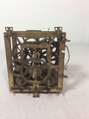 Antique Spring Driven German Black Forest Cuckoo Clock Movement Parts / Repairs