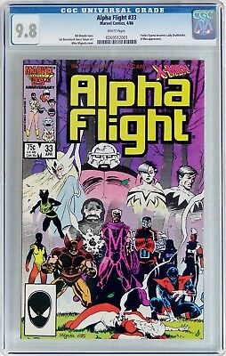 Alpha Flight #33 (Apr 1986, Marvel) CGC 9.8NM/MT 1st appearance Lady Deathstrike