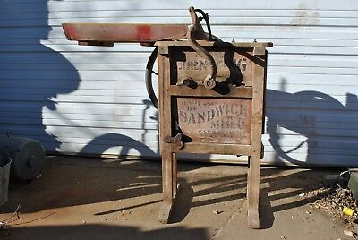 Rare Original Sandwich Corn King Wooden Corn Sheller For Hit & Miss Gas Engine