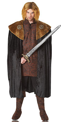 BRAND NEW Game Of Thrones Viking Knight ADULT MEN'S BROWN MEDIEVAL KING CAPE