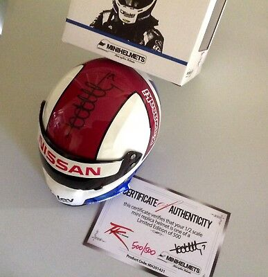 V8 SUPERCARS HAND SIGNED TODD KELLY MINI HELMET BRAND NEW COA 500 of 500