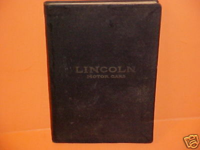 1923 Lincoln Touring Limousine Roadster Coupe Data Book Brochure Catalog French