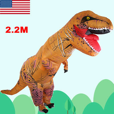 New Inflatable Dinosaur T-REX Adult Fancy Dress Costume Xmas Party Cosplay Show