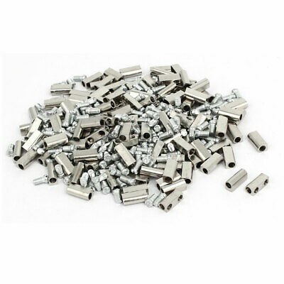 3mm Dia Brass Nickel Plated Terminal Blocks Electrical Wire Connectors 200pcs