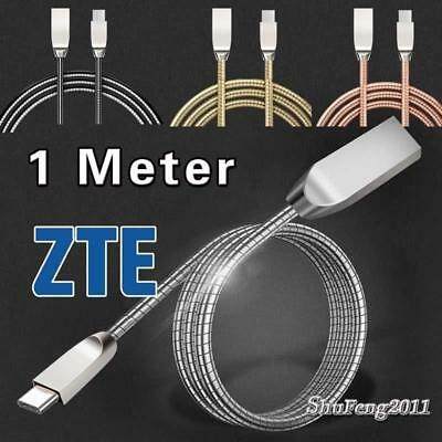 Heavy Duty Metal Type C USB Phone Data Sync Charger Cable For ZTE Max XL