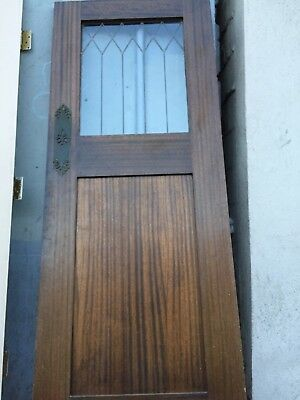 "Kitchen door Swing Door Leaded Glass 78-1/2"" X30""  spanish antique old vintage"