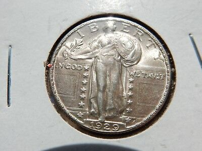 1929 Standing 25c slider Unc. with a full-head! FREE shipping, NEVER tax!!
