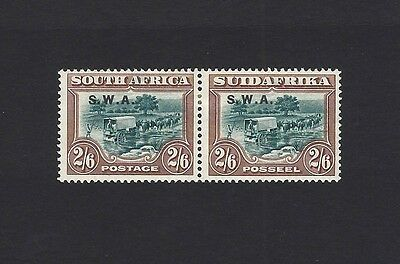 South West Africa 1927 2/6 pair SG 65 MM