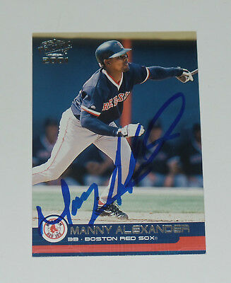 Manny Alexander Signed Auto'd 2001 Pacific Card #61 Cubs Boston Red Sox Orioles
