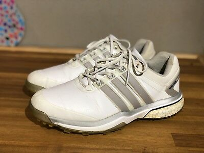 Adidas Adipower Boost Golf Shoes - White And Silver 8.5US