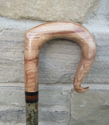 SPALTED BEECH SHEPHERDS CROOK on an ash shank,walking stick and beaters stick