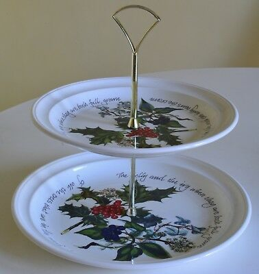 Portmeirion Holly And Ivy Cake Stand For the Christmas Table