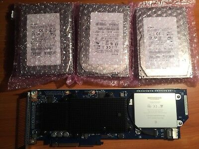 Apple Mac Pro 2006-2008 RAID Card w/Battery PCI-e + 3x 450GB SAS 15000rpm HDD