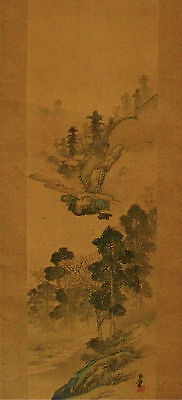 Antique - Japanese Painting - Sansui - Signed + 1 Seal Of The Artist.