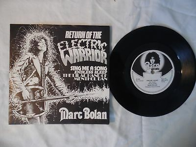 Marc Bolan Single.sing Me A Song.uk Ep.3 Track.uk.pic Sleeve.