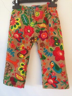 Oilily Girls Cord Trousers 80/18 months
