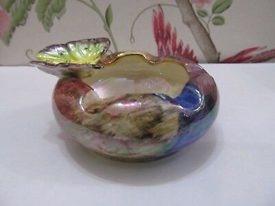 """""""Old Court Ware"""" Hand Painted & Lustered Butterfly Ashtray"""