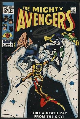 Avengers #64 Great Cover Nice White Pages Great Value Cents Copy. Black Panther!