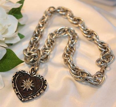 Chunky Chain Heart Pendant Necklace- Fab Find