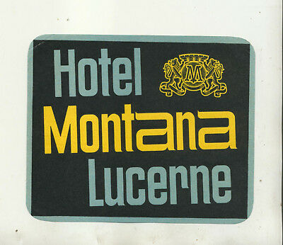 Hotel Montana Lucerne Luggage Label