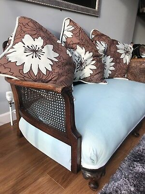 beautiful antique bergere sofa - large 2 seater