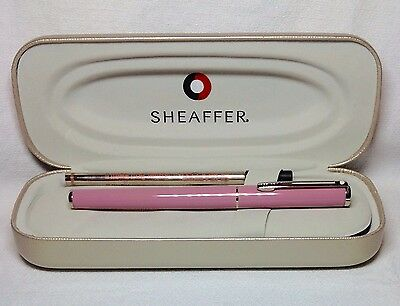 Sheaffer Agio Pale Pink RollerBall Pen with Chrome Trim New In Box Product