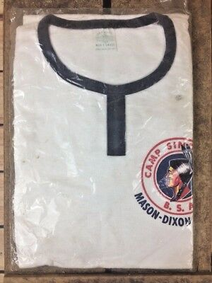 Vintage Boy Scout Camp T Shirt Camp Sinoquipe  New Old Stock!! Small