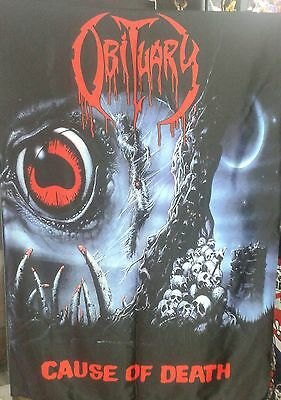 OBITUARY Cause of Death FLAG CLOTH POSTER WALL TAPESTRY BANNER CD Death Metal