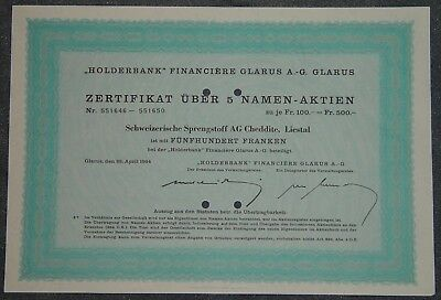 Holderbank Financiere Glarus A.-G. 1964 500 CHF