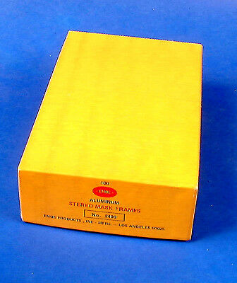 One Partial Box of Emde Realist Format Stereo Slide Masks