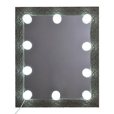 Samms Hollywood Style Vanity 10 LED lights kit for Makeup Mirrors with Dimmer