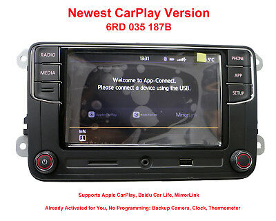 RCD330G Radio 6.5'' MIB UI Stereo CarPlay APPs MirrorLink Bluetooth RCD340 VW