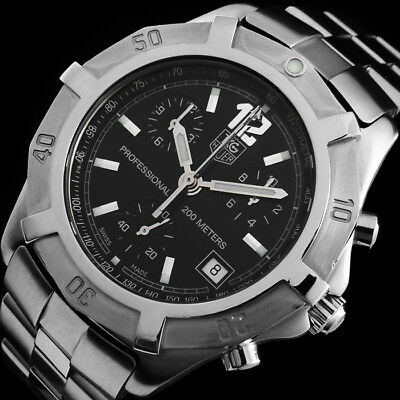 Tag Heuer Professional 2000 Diver Chronograph Rattrapante 200M Herren Uhr Cn1110