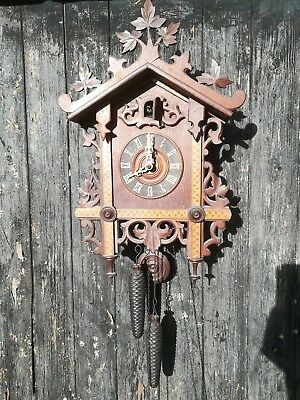 antique German cuckoo clock c. 1937 for restoration