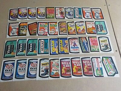 1973-1975 Topps Wacky Packages Lot of 162 Sticker Cards Nice Condition!