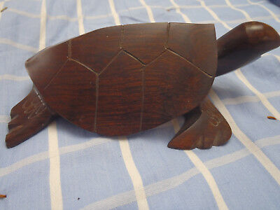 "Teak Wood Sea Turtle, Wooden Turtle Figure, Sea Turtle 6.5"" lg,4"" wd, 2.25"" tall"