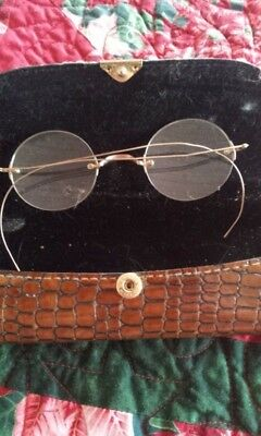 Antique round 14k Gold  Eye Glasses, Spectacles